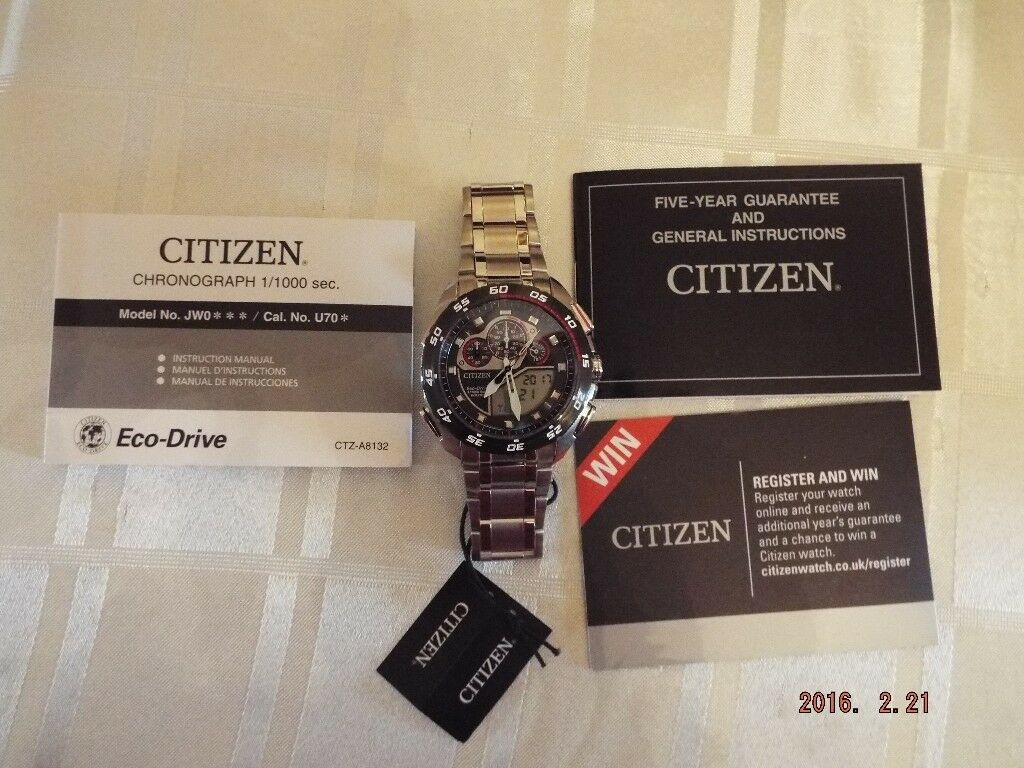 citizen eco drive watch manual