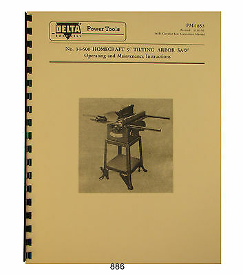rockwell 10 table saw manual