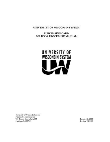 purchasing policies and procedures manual pdf